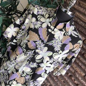 Tori Richard Silk Hawaiian Aloha Shirt XL